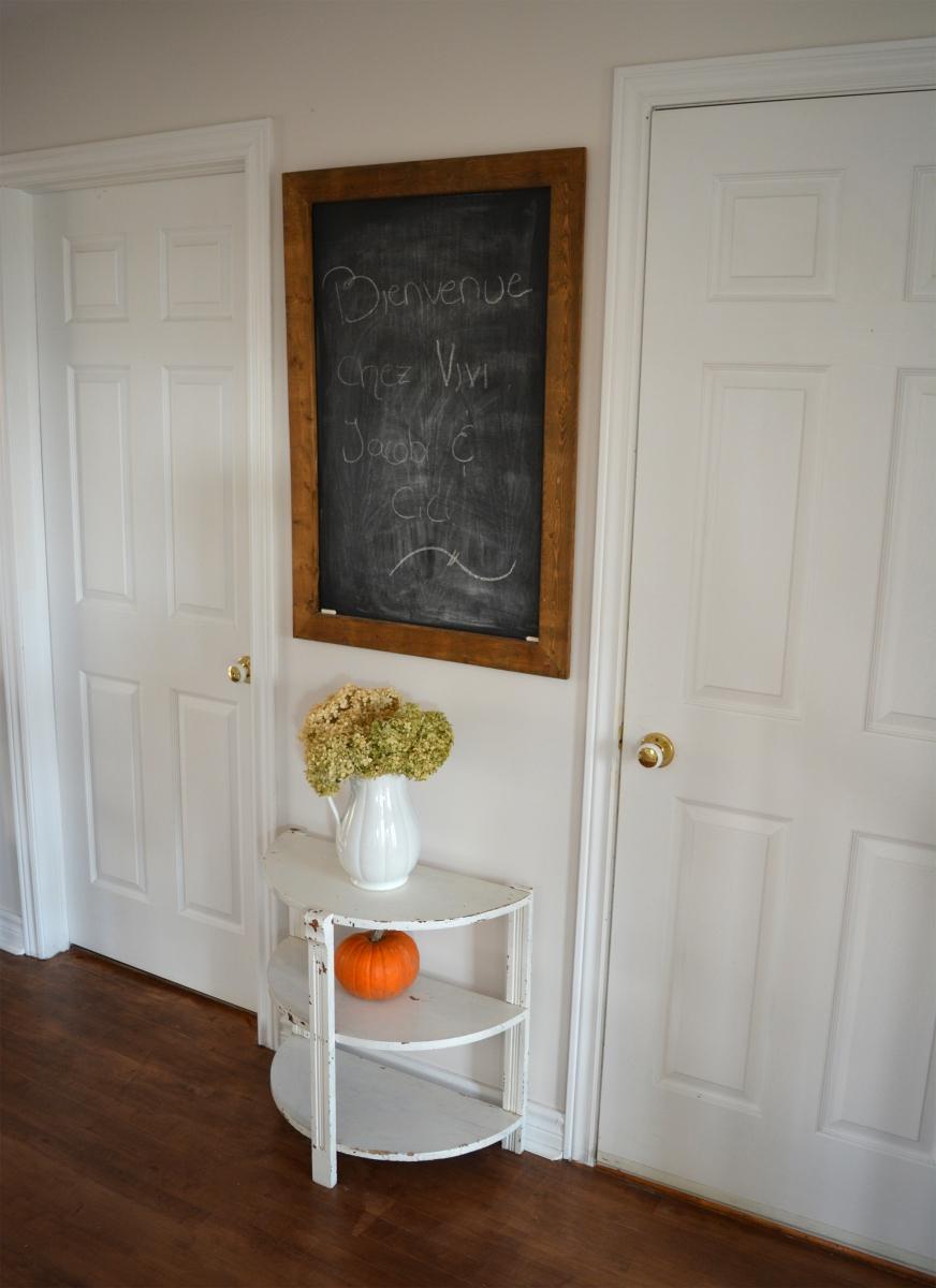 Table Demi-lune Blanche Style Rustique Chic, Annonce