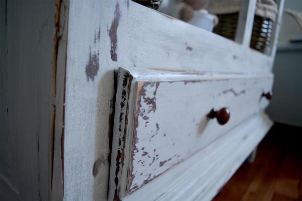 Armoire étagère, bibliothèque rustique shabby chic4