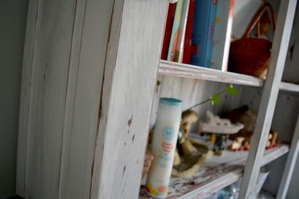 Armoire étagère, bibliothèque rustique shabby chic3