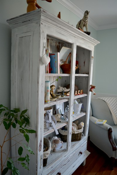 Armoire étagère, bibliothèque rustique shabby chic2