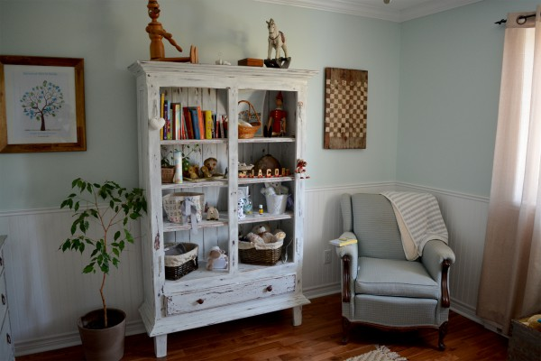 Armoire étagère, bibliothèque rustique shabby chic5
