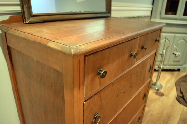 Commode ou table à langer 5 tiroirs en bois5