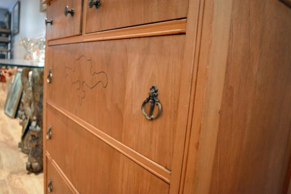 Commode ou table à langer 5 tiroirs en bois3