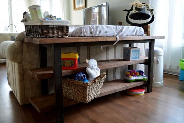 Étagère en bois foncé style ouvert rustique2