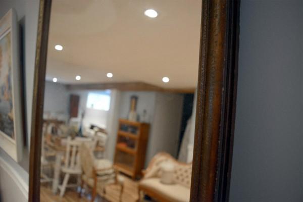 Miroir à cadre antique rustique3