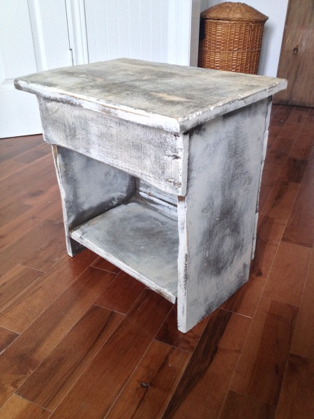 Table de chevet, meuble shabby chic rustique2