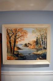 Peinture signée Gordon F. Meadows 1966